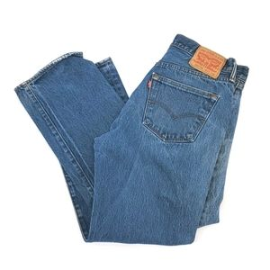 Levi's 501 classic distressed jeans
